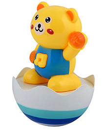 Curtis Toys Roly Poly Baby Musical Tumbler Toy - Yellow