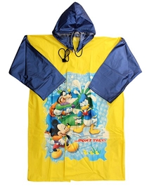 Mickey - Donald And Goofy Print Rain Coat