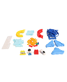 Dr. Toy Play Track Set Multi Color - 50 Pieces