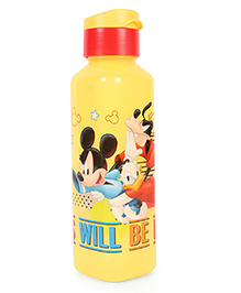 Disney Mickey & Friends Boys Will Be Boys Print Water Bottle Red Yellow - 700 Ml