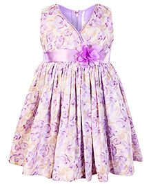 Faye - Lilac Floral Summer Dress