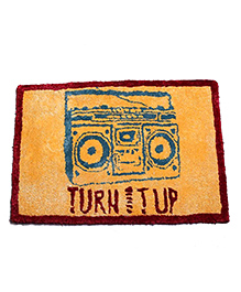 The Crazy Me Drink Door Mat Turn It Up Design - Orange