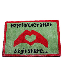 The Crazy Me Drink Door Mat Happily Design - Green