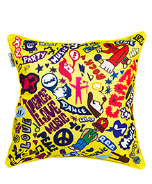 The Crazy Me Cushion Cover Crazy Print - Yellow