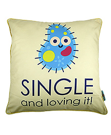 The Crazy Me Cushion Cover Single Print - Cream