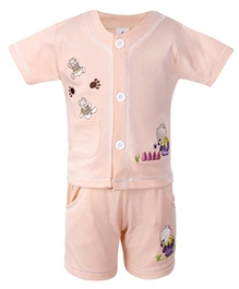 Half Sleeves Embroidered Set And Suit Size 18, 90 Cm, 18 - 24 Months, Cool And Cute Teddy Embroidered Set And...