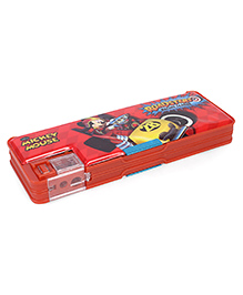 Disney Mickey Mouse And Friends Double Side Pencil Box - Red