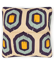 Home Union Polyster Digital Printed Cushion Cover - Cream