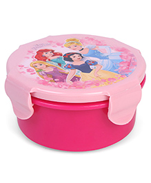 Disney Round Lunch Box Princess Print - Pink