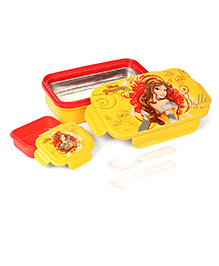Disney Lunch Box Princess Print - Yellow & Red