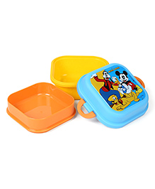 Disney Mickey Mouse And Friends Lunch Box - Orange Blue