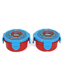 Marvel Lunch Box Spider Man Print Pack Of 2 - Blue & Red