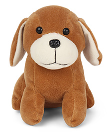 Play Toons Puppy Soft Toy Light Brown - Length 15 Cm