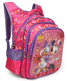 Disney Minnie & Daisy School Bag Pink Purple - Height 18 Inches