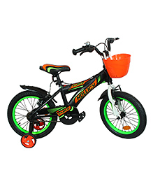 Hollicy Fury 16 Inch Kids Bicycle With Trainer Wheels - Green Black