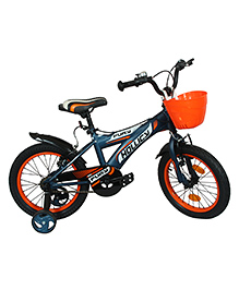 Hollicy Fury 16 Inch Kids Bicycle With Trainer Wheels - Orange Blue