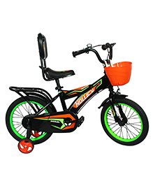 Hollicy Sigma Bicycle With Training Wheels Black - 16 Inches