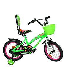 Cosmic Vega Kids Bicycle Green Pink - 16 Inch