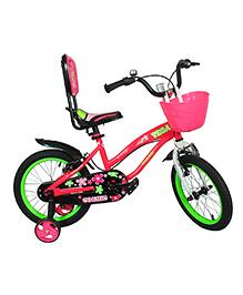 Cosmic Vega Kids Bicycle Pink Green - 16 Inch