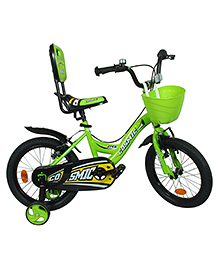 Cosmic Ziva Kids Bicycle Green & Black - 16 Inches