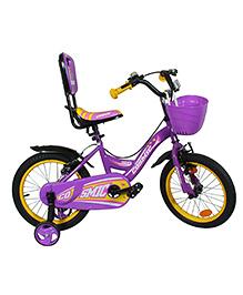 Cosmic Ziva Kids Bicycle Purple & Yellow - 16 Inches