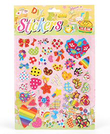 Heart Shape Wall Stickers - Multi Colour