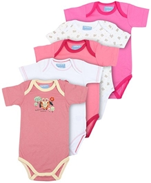 Carters - Set Of 5 Multi Print Onesies