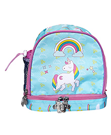 Little Jamun Junior Backpack Unicorn Print Blue Pink - 10 Inches
