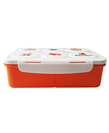 Little Jamun Eco Friendly Lunch Box With Spoon - Orange