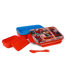 Marvel Spider Man Lunch Box With Fork Spoon - Red