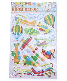 Air Transport Theme Room Decor Sticker - Multi Color