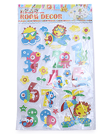 Numeric Theme Room Decor Sticker - Multi Color