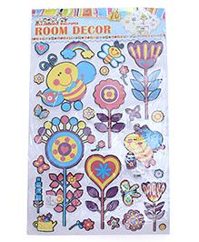 Flower Theme Room Decor Sticker - Multi Color