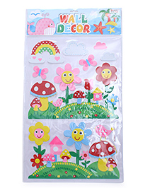 Flower Theme Room Decor Sticker - Pink