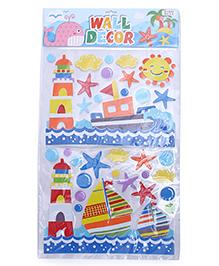 Boat Theme Room Decor Sticker - Multi Color