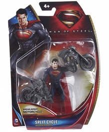 Superman - Man Of Steel Superman Figure Break Apart Motor Cycle