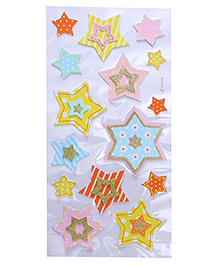 Star Shape Room Decor Sticker - Multi Color