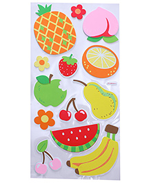 Fruit Shape Room Decor Sticker - Orange Yellow