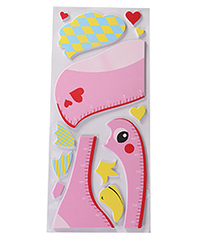 Duck Shape Room Decor Sticker - Pink
