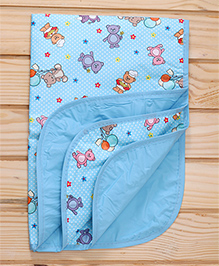Mee Mee Bed Protector Mat Teddy Bear Print - Blue