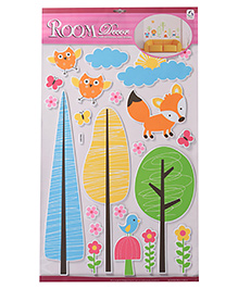 Owl & Tree Shape Room Decor Sticker - Multi Colour