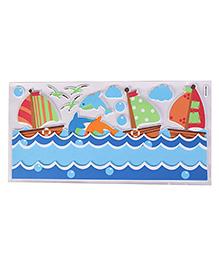 Boat Shape Room Decor Sticker - Multi Colour