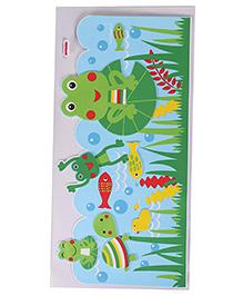 Frog Theme Room Decor Sticker - Multi Colour