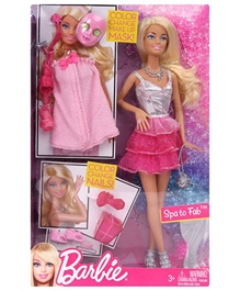 Barbie Spa To Fabulous Barbie Doll Pink 29 cm 3 Years+, Beautiful fairy doll for your little girl's fantasy world