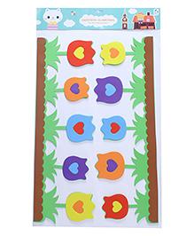 Floral Theme Room Decor Sticker - Multi Colour - 2039867