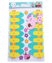 Giraffe Theme Room Decor Sticker - Multi Colour - 2039871