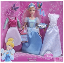 Disney Princess Cindrella Doll with Fashion Accessories