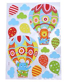 Hot Air Balloon & Cloud Shape Room Decor Sticker - Multi Color