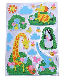 Animal & Tree Shape Room Decor Sticker - Multi Color