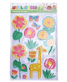 Giraffe Theme Room Decor Sticker - Multi Colour
